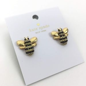 Kate Spade Picnic Perfect Pave Bee Earrings